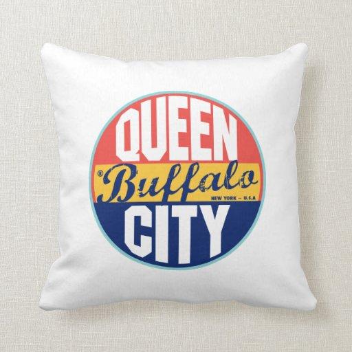 Buffalo Vintage Label Pillows