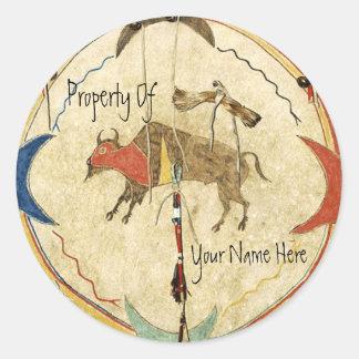 Buffalo Warrior Shield Book Plate
