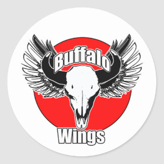 Buffalo Wings 2 Classic Round Sticker