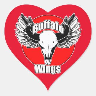 Buffalo Wings 2 Heart Sticker