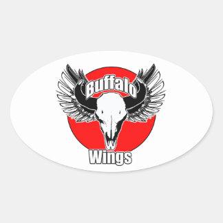 Buffalo Wings 2 Oval Sticker