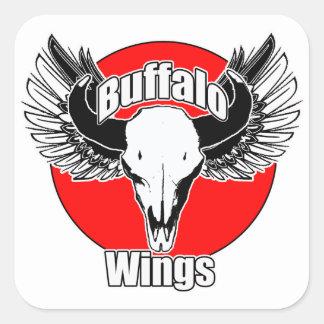 Buffalo Wings 2 Square Sticker