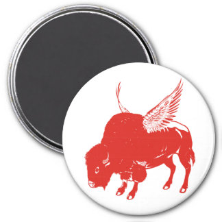 Buffalo Wings 3 Inch Round Magnet