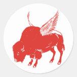 Buffalo Wings Classic Round Sticker