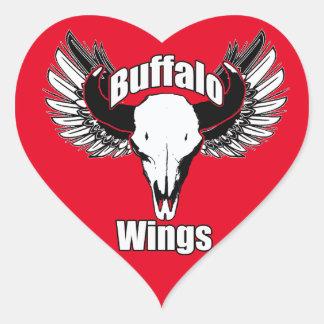 Buffalo Wings Heart Sticker