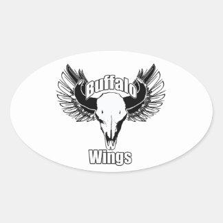 Buffalo Wings Oval Sticker
