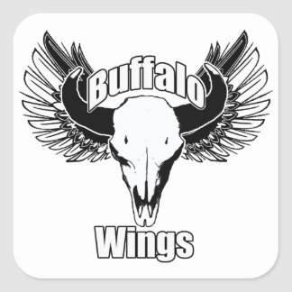 Buffalo Wings Square Sticker