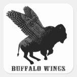 Buffalo Wings Square Stickers