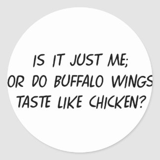 Buffalo WIngs Round Stickers