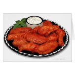Buffalo wings with blue cheese greeting card