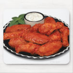 Buffalo wings with blue cheese mouse pad