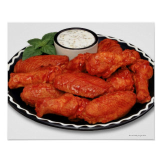 Buffalo wings with blue cheese poster