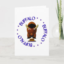 Buffalo with Beef on Weck and Buffalo Wings Holiday Card