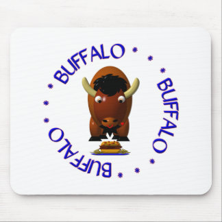 Buffalo with Beef on Weck and Buffalo Wings Mouse Pad