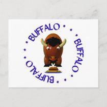 Buffalo with Beef on Weck and Buffalo Wings Postcard