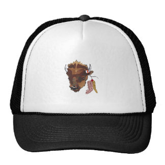 BUFFALO WITH FEATHERS TRUCKER HAT