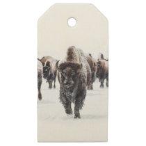 Buffalo Wooden Gift Tags