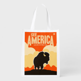 Buffalo Reusable Grocery Bag
