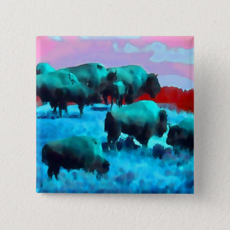 Buffaloes Button