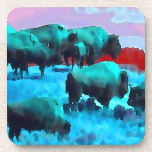 Buffaloes Beverage Coasters