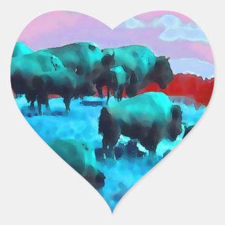 Buffaloes Heart Sticker