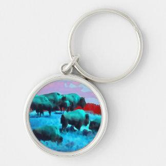 Buffaloes Keychain