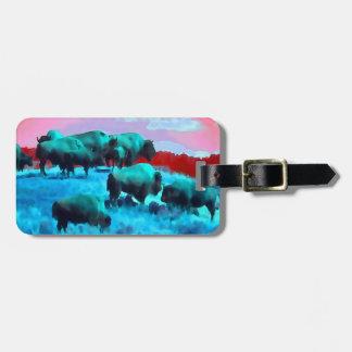 Buffaloes Luggage Tag