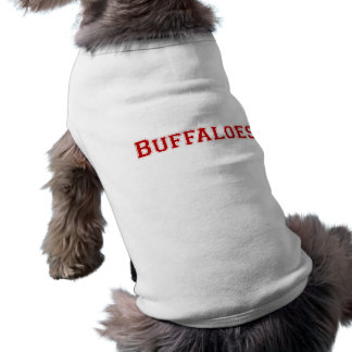 Buffaloes square logo in red shirt