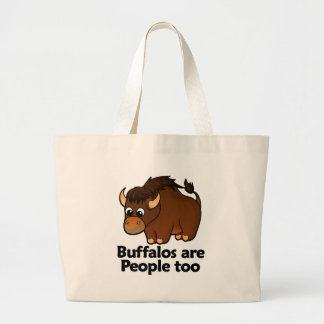 Buffalos are People too Jumbo Tote Bag