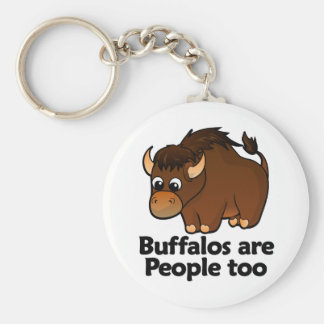 Buffalos are People too Key Chains