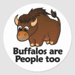 Buffalos are People too Round Stickers