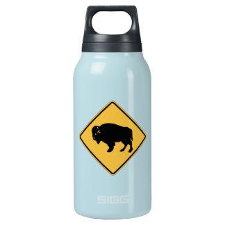 Buffalos Roaming, Traffic Warning Sign, Utah, USA Insulated Water Bottle