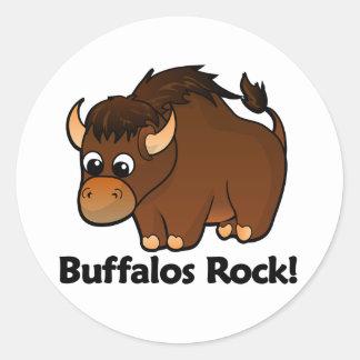 Buffalos Rock! Classic Round Sticker