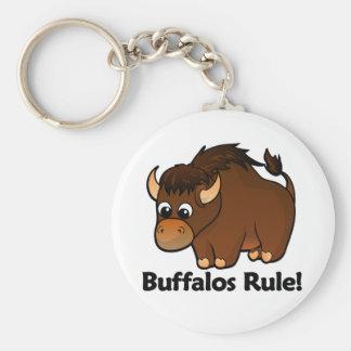 Buffalos Rule! Basic Round Button Keychain