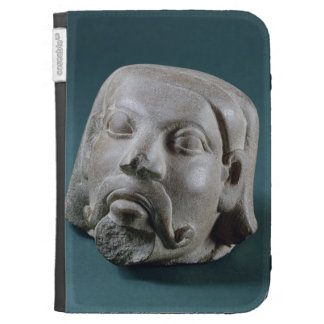 Buffed sandstone head of a foreigner, Sarnath, 3rd Kindle Folio Cases