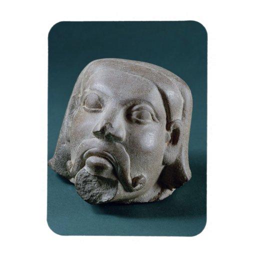 Buffed sandstone head of a foreigner, Sarnath, 3rd Vinyl Magnets