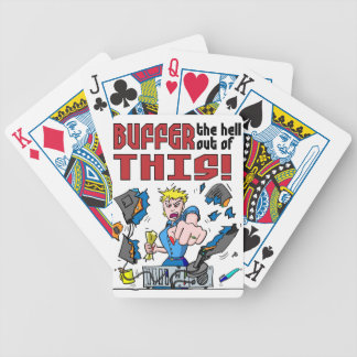 Buffer that! Computer Rage Bicycle Playing Cards
