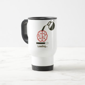 buffer your brain with our new loading coffee mug