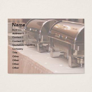 buffet table business card