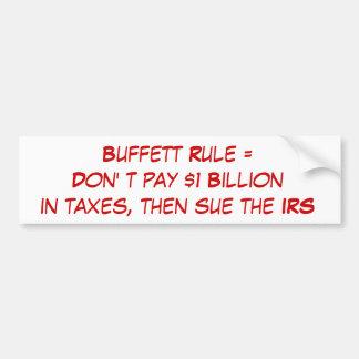 Buffett Rule Bumper Stickers