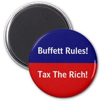 Buffett Rules! 2 Inch Round Magnet