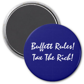 Buffett Rules! 3 Inch Round Magnet