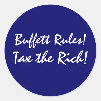 Buffett Rules! Classic Round Sticker