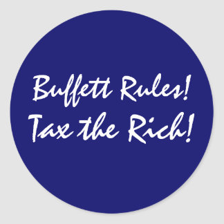 Buffett Rules! Round Stickers