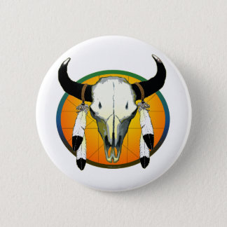 bufflalo skull button