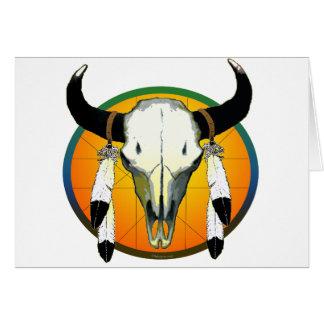 bufflalo skull card