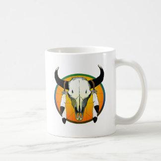 bufflalo skull coffee mug