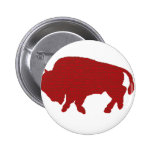 Bufflao Red 2 Inch Round Button
