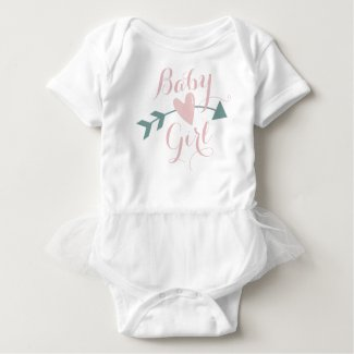 Buffled T With Heart And Arrow Baby Bodysuit