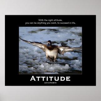 Bufflehead Duck Attitude  Motivational Posters